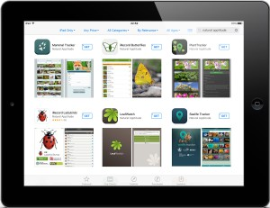 iPad showing iRecord apps in app store