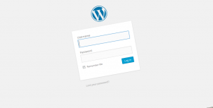 Screen shot Wordpress login screen