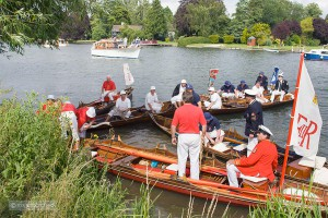 Swan upping on the Thames