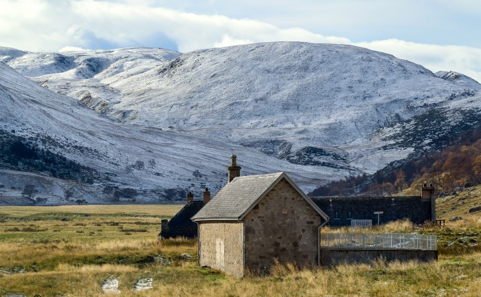 Carn Leitir Coire Challich with a covering of snow, in Strathdearn Findhorn Valley