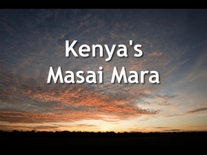 Opening slide of our talk on Kenya's Masai Mara