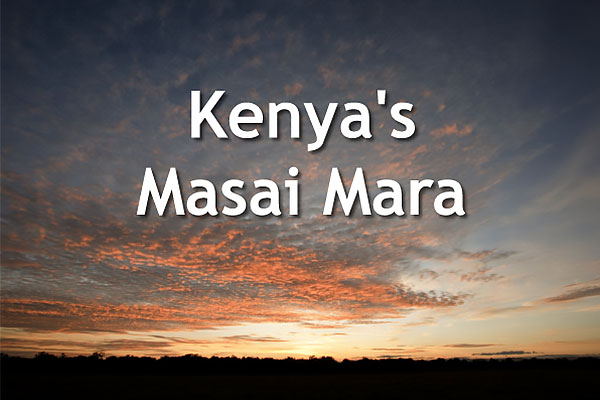 Opening slide from our Kenya's Masai Mara talk